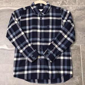 Boys Authentic Burberry Flannel, Size 10